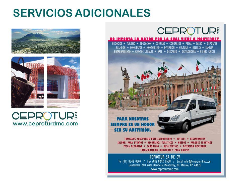 SERVICIOS ADICIONALES www.ceproturdmc.com