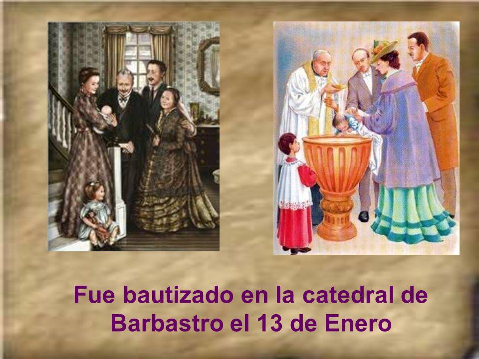 San Josemaría nació en Barbastro (Huesca, España) el 9 de Enero de 1902.