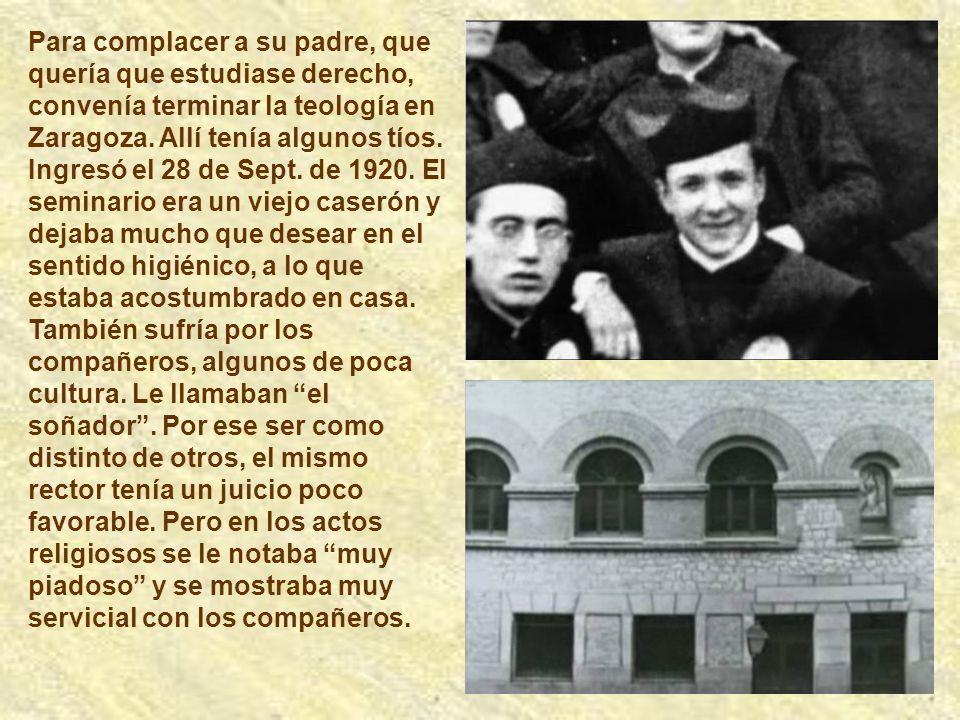 En Febrero de 1818 Josemaría tuvo un hermanito. Lo consideró como una respuesta de Dios para poderse entregar más libremente a su servicio. Él fue el