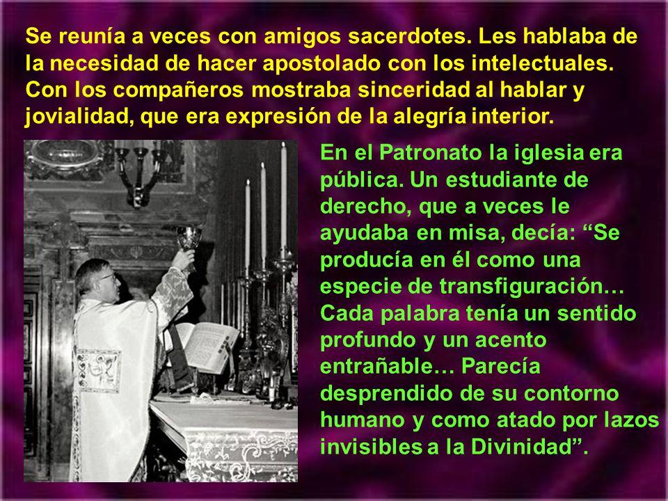 El 19 de Abril de 1027 fue a Madrid. Quería hacer el doctorado en derecho, como último homenaje a su padre. Residía en una casa sacerdotal, donde la m