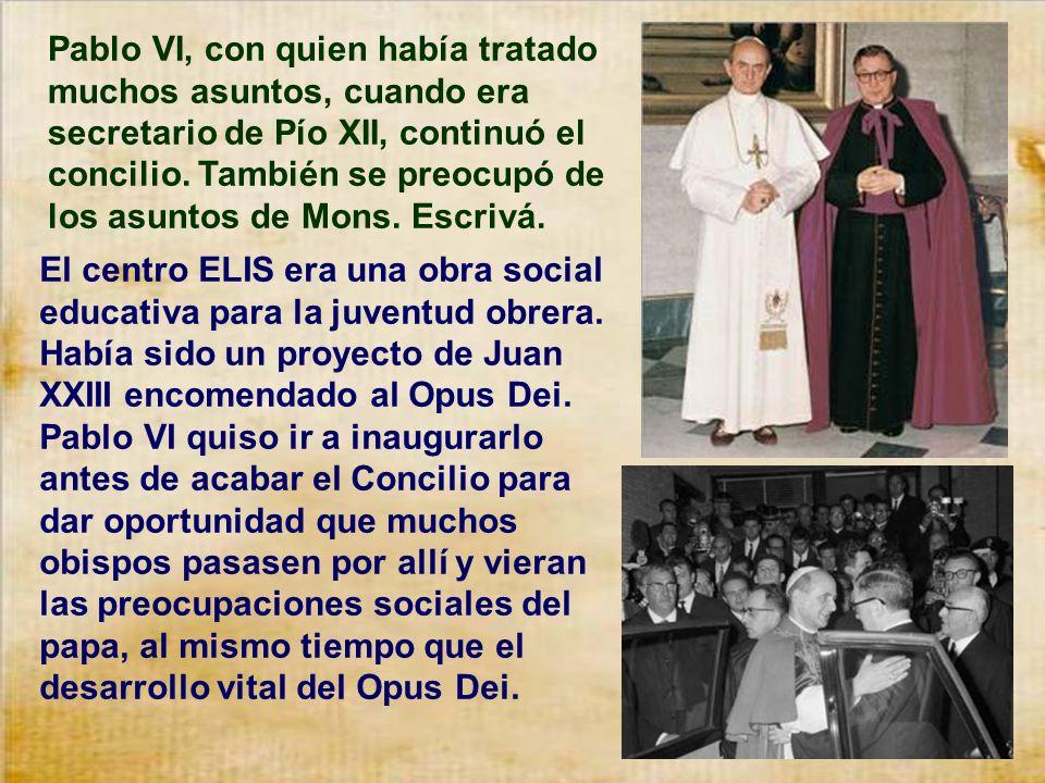 El 25 de Enero de 1959 el papa Juan XXIII anunciaba la celebración del Concilio Vaticano II. Don Josemaría lo recibió como una inspiración y lo acogió