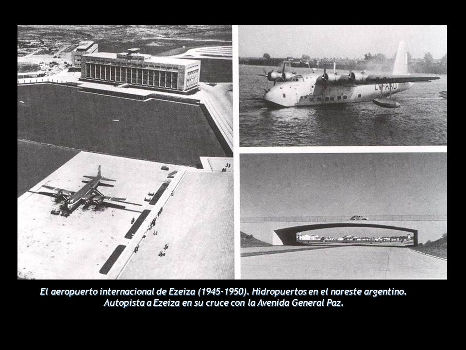 El aeropuerto internacional de Ezeiza (1945-1950).