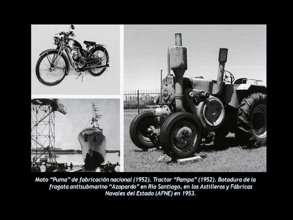 Moto Puma de fabricación nacional (1952).Tractor Pampa (1952).