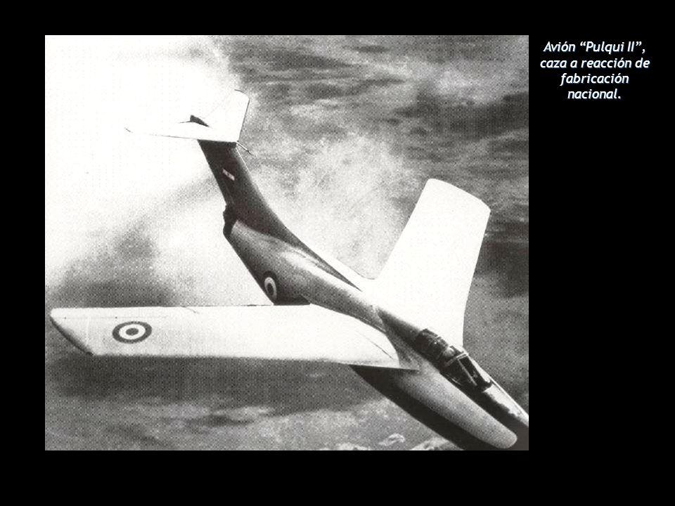 Avión Pulqui II, caza a reacción de fabricación nacional.