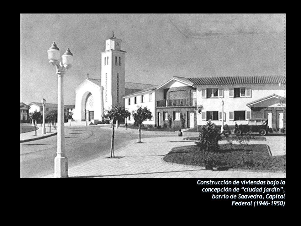 Construcción de viviendas bajo la concepción de ciudad jardín, barrio de Saavedra, Capital Federal (1946-1950)
