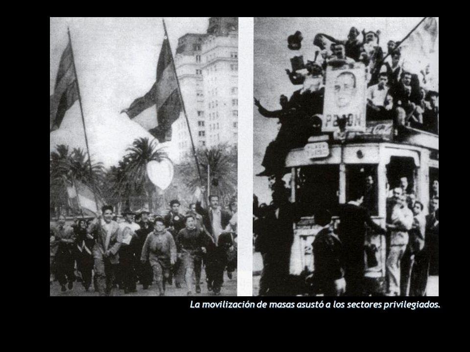 L LL La movilización de masas asustó a los sectores privilegiados.