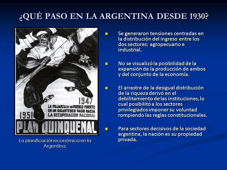 ¿QUÉ PASO EN LA ARGENTINA DESDE 1930.