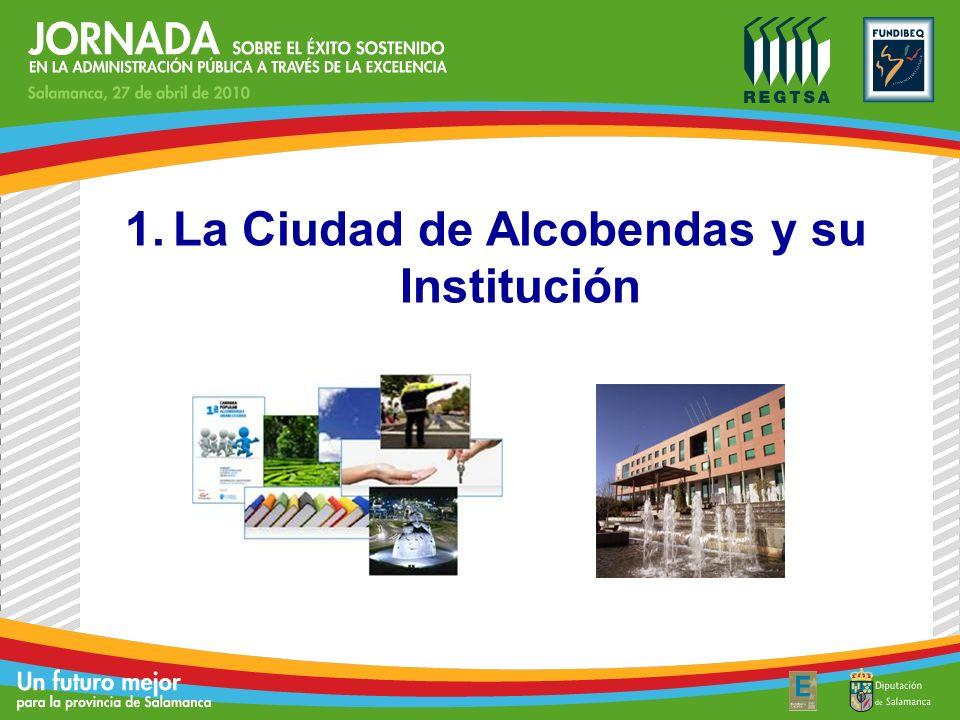 Distancia a Madrid (Kms.)15 Distancia al Aeropuerto Barajas7 Nº Estaciones Tren Cercanías2 Nº Estaciones de Metro4 Localización Población110.358 Extensión Total (Has)4.412 Población < 30 años37,5% Población > 65 años9,7% Tasa de Desempleo9,82% Datos de la Ciudad