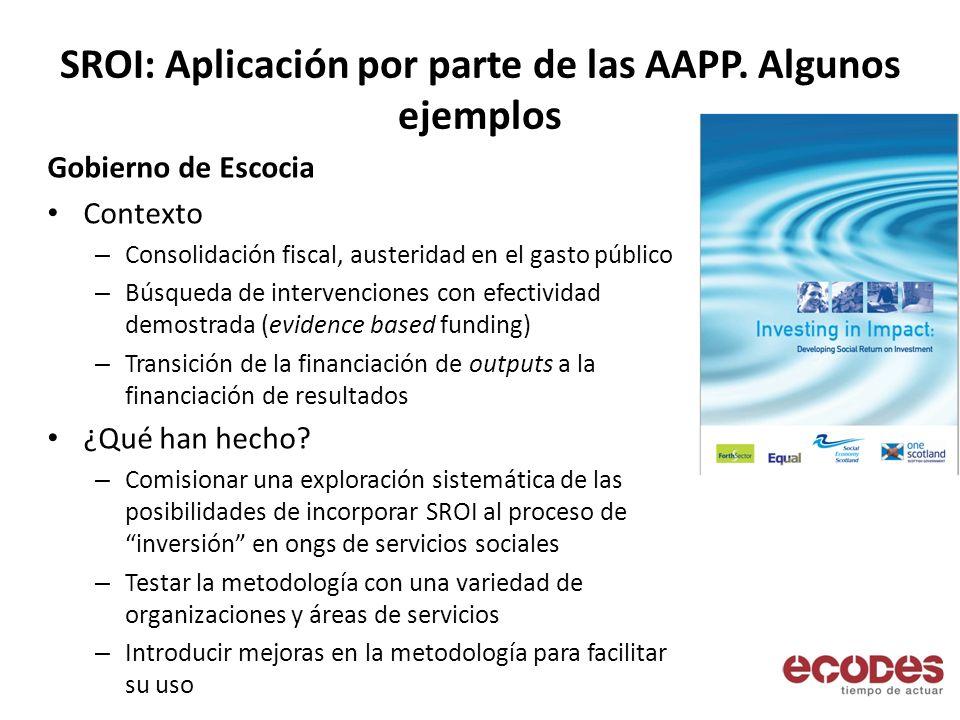 SROI: Aplicación por parte de las AAPP.