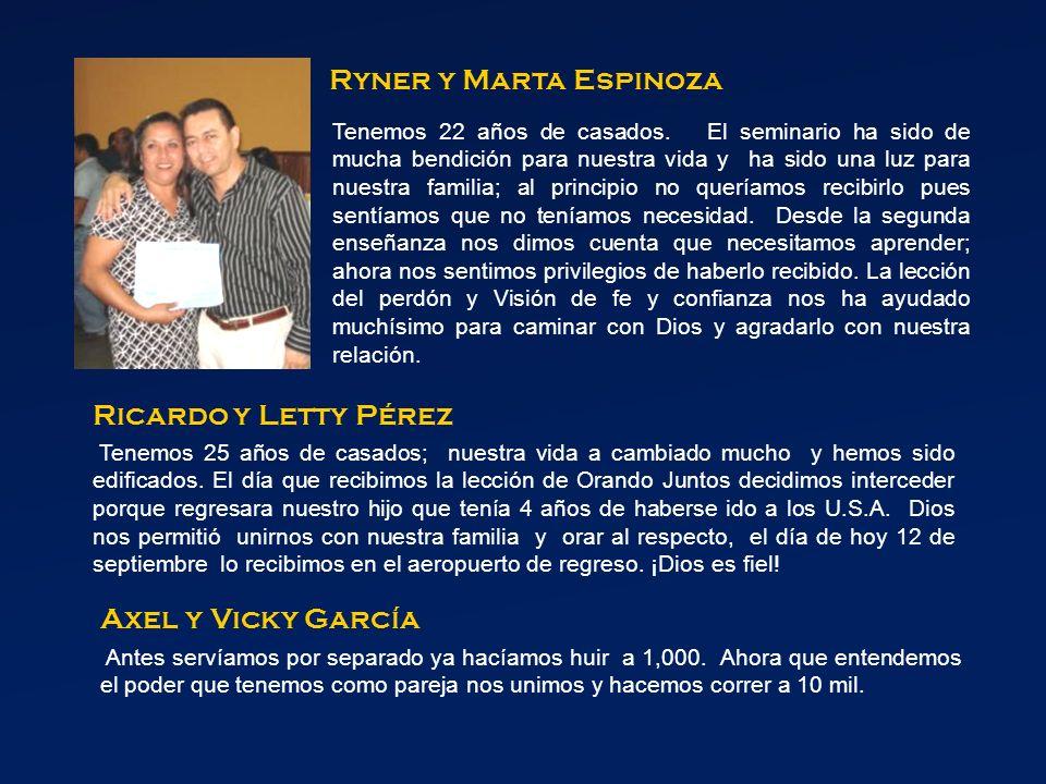 Ryner y Marta Espinoza Tenemos 22 años de casados.