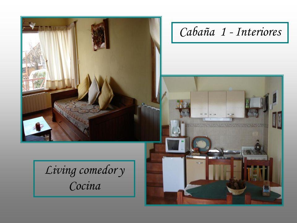 Cabaña 1 - Interiores Living comedor y Cocina