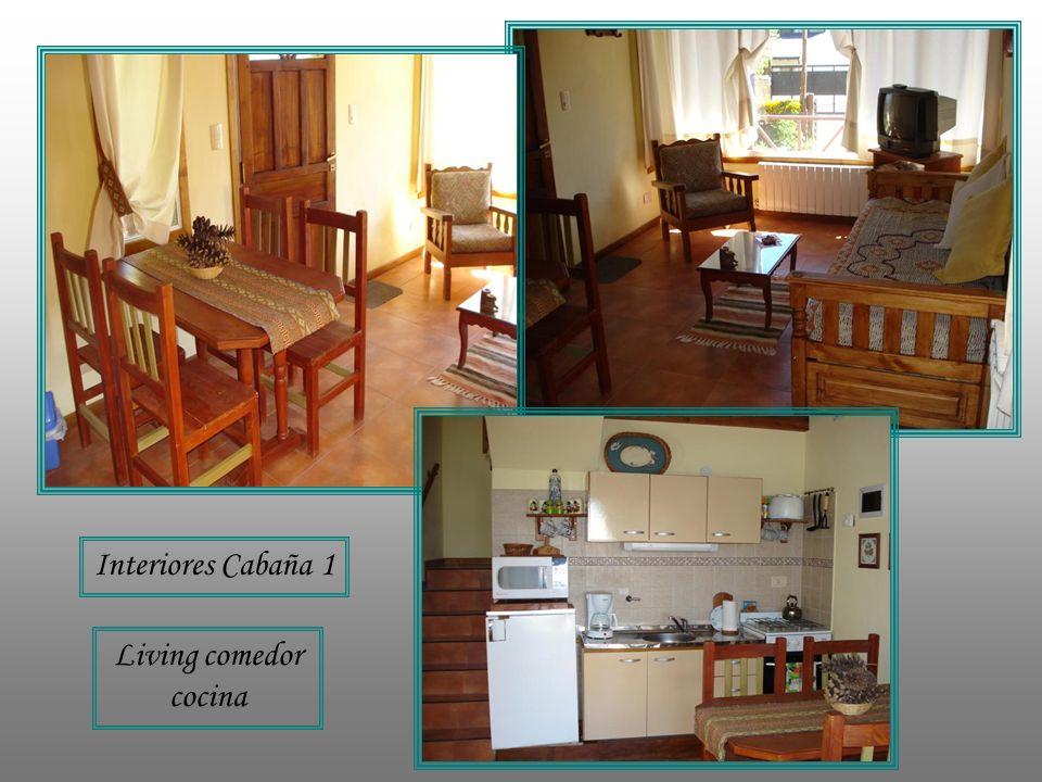 Interiores Cabaña 1 Living comedor cocina