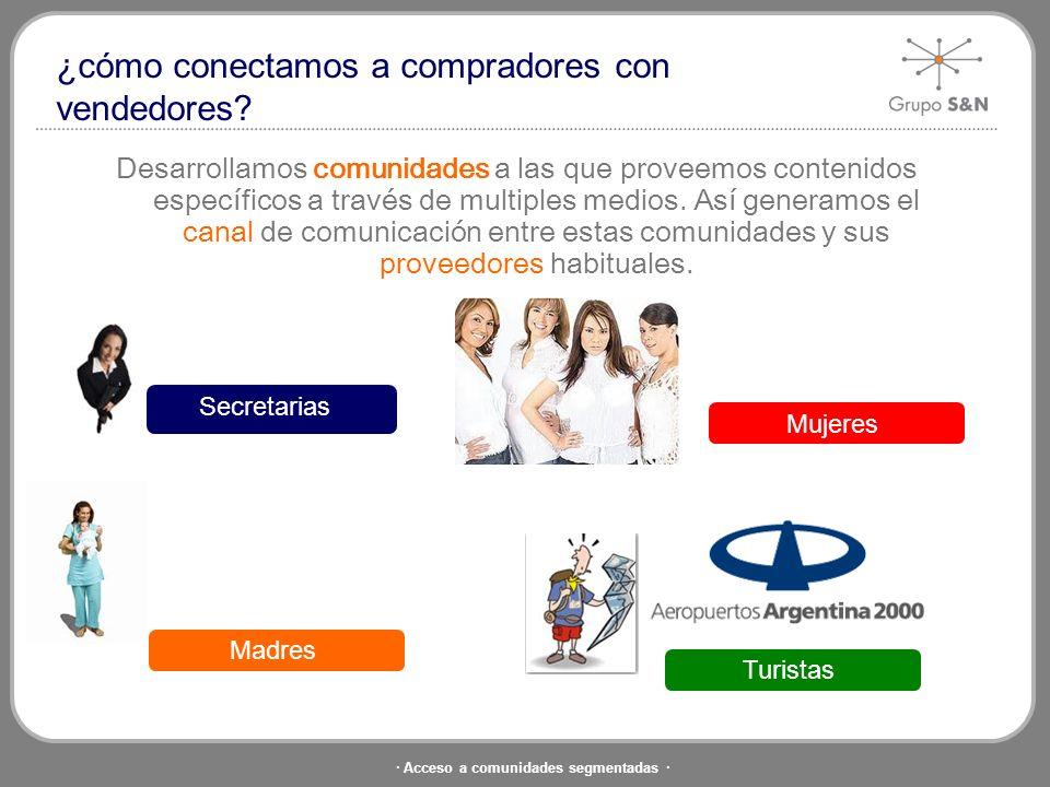 · Acceso a comunidades segmentadas · Conectamos compradores con vendedores en forma eficiente y rentable de manera simple e innovadora