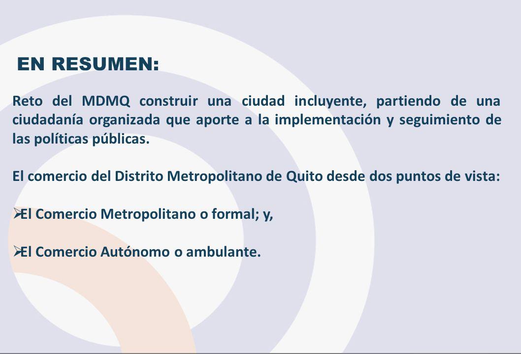EN RESUMEN: Reto del MDMQ construir una ciudad incluyente, partiendo de una ciudadanía organizada que aporte a la implementación y seguimiento de las políticas públicas.