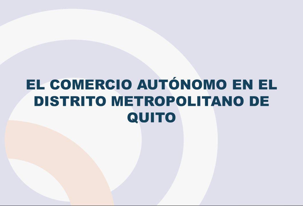 EL COMERCIO AUTÓNOMO EN EL DISTRITO METROPOLITANO DE QUITO
