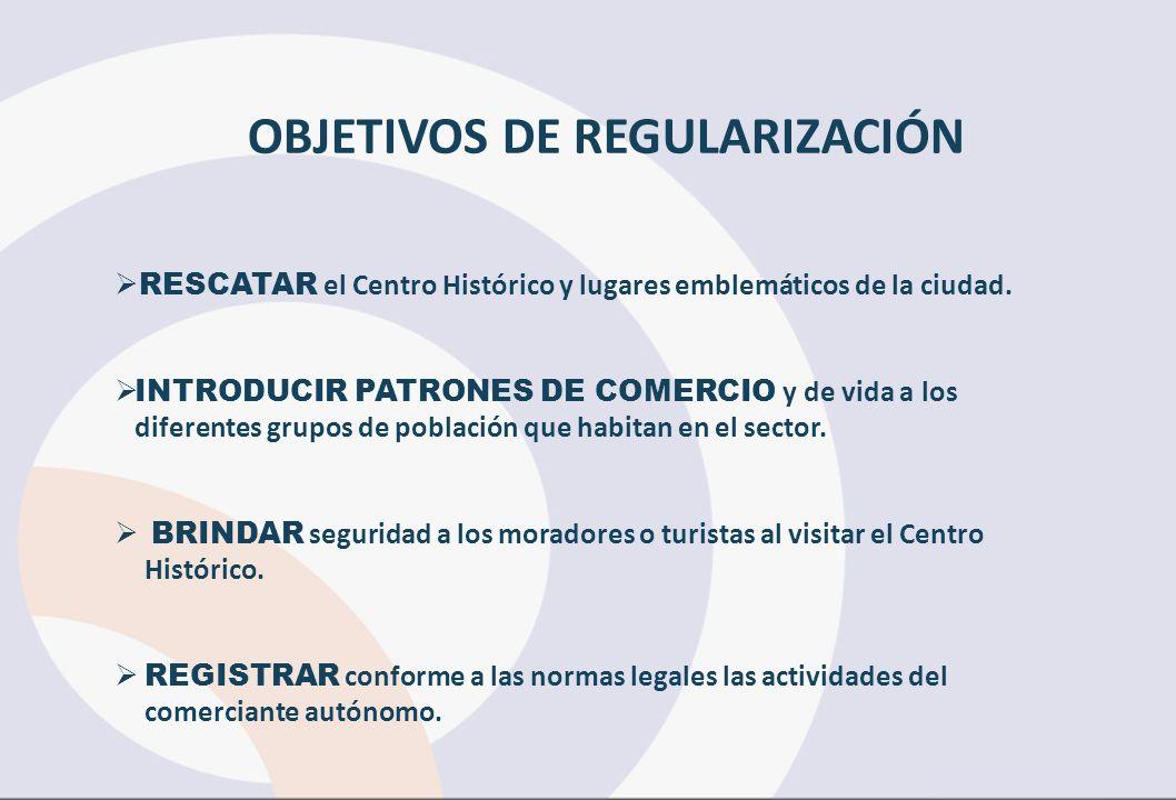 RESCATAR el Centro Histórico y lugares emblemáticos de la ciudad.