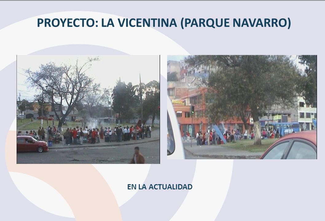 PROYECTO: LA VICENTINA (PARQUE NAVARRO) EN LA ACTUALIDAD