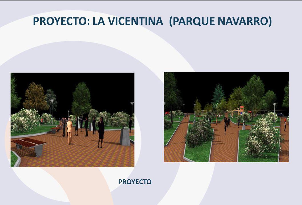PROYECTO: LA VICENTINA (PARQUE NAVARRO) PROYECTO