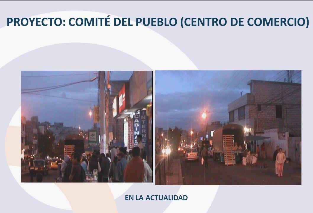 PROYECTO: COMITÉ DEL PUEBLO (CENTRO DE COMERCIO) EN LA ACTUALIDAD