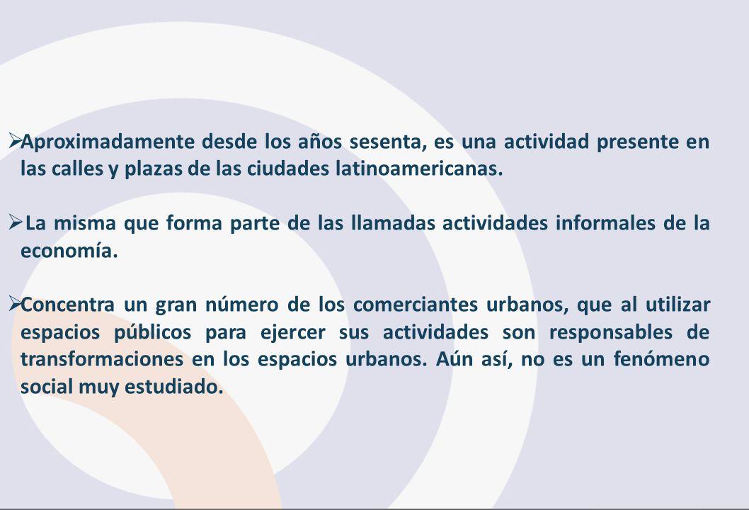 Aproximadamente desde los años sesenta, es una actividad presente en las calles y plazas de las ciudades latinoamericanas.