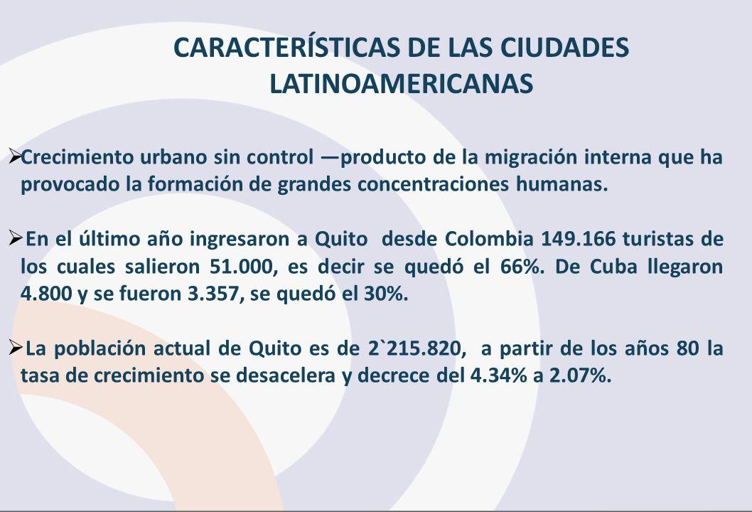 Crecimiento urbano sin control producto de la migración interna que ha provocado la formación de grandes concentraciones humanas.