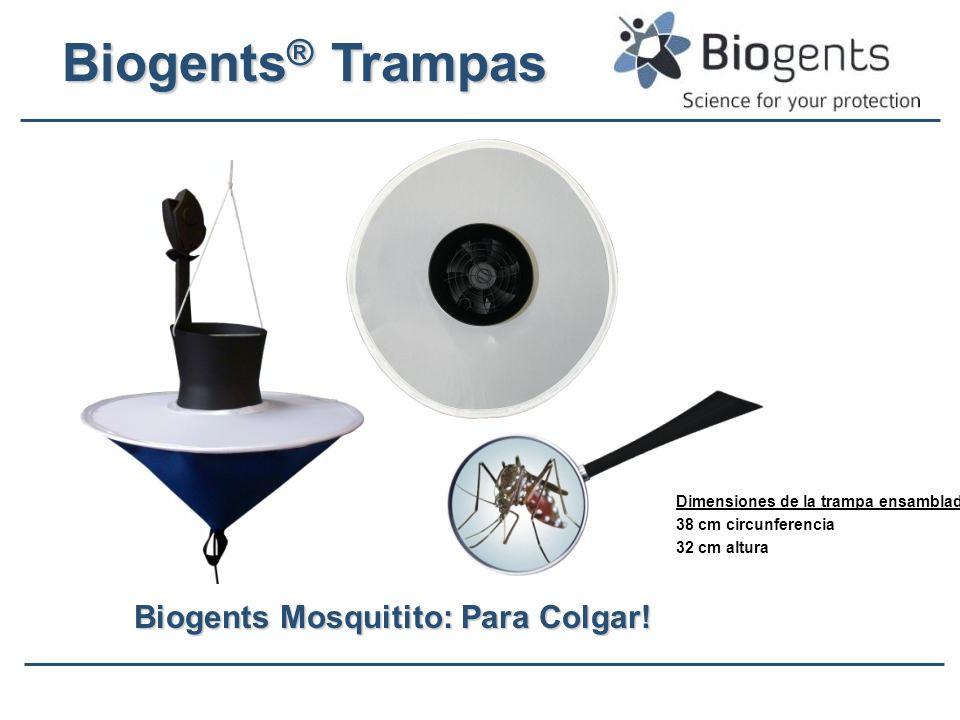 Biogents Mosquitito: Para Colgar! Dimensiones de la trampa ensamblada: 38 cm circunferencia 32 cm altura Biogents ® Trampas