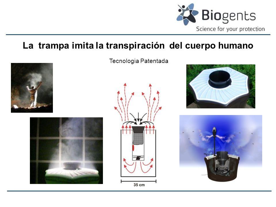 La trampa imita la transpiración del cuerpo humano Tecnologia Patentada