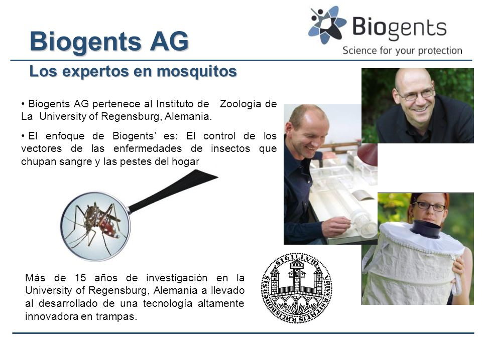 Biogents ® Lure Patent International Patented.