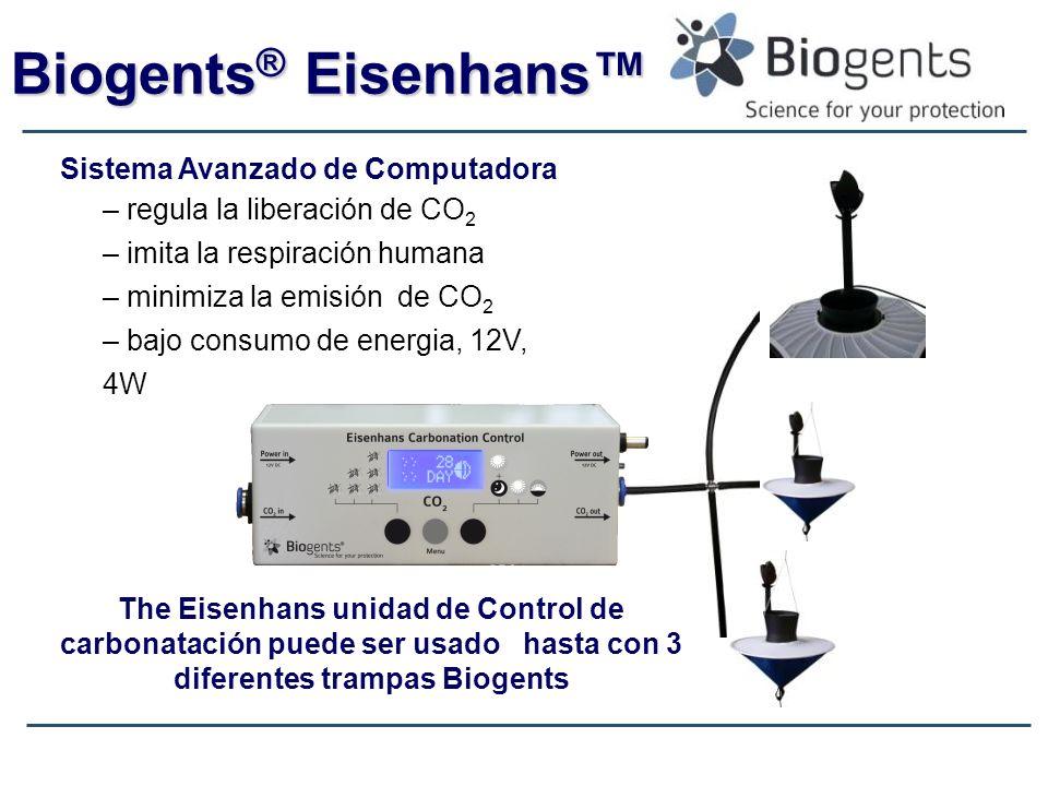 Biogents ® Eisenhans Sistema Avanzado de Computadora – regula la liberación de CO 2 – imita la respiración humana – minimiza la emisión de CO 2 – bajo