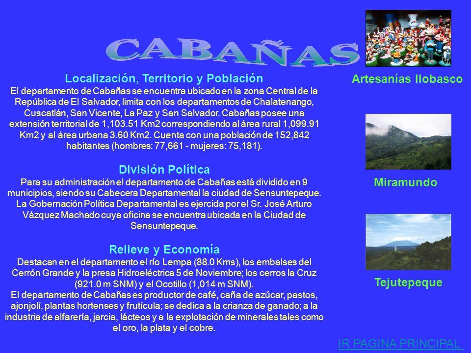 Localización, Territorio y Población El departamento de San Salvador se encuentra ubicado en la zona Central de la República de El Salvador, limita co