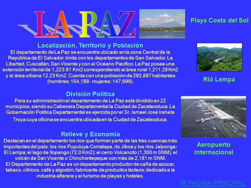 Localización, Territorio y Población El departamento de Cabañas se encuentra ubicado en la zona Central de la República de El Salvador, limita con los