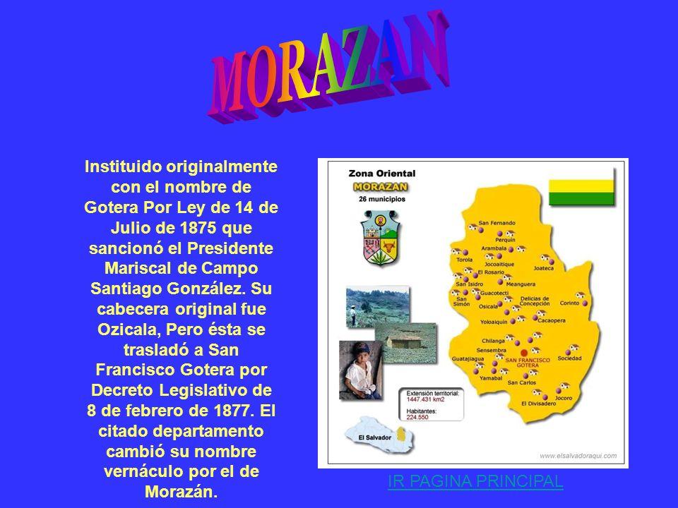 . Fundado por Ley de 22 de Julio de 1865 sancionado por el Presidente Dr. Francisco Dueñas. Su cabecera es la ciudad de San Carlos de La Unión; y cons
