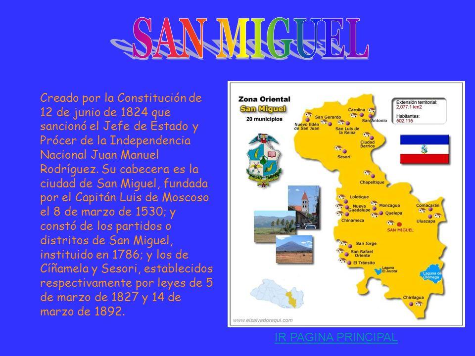 Instituido originalmente con el nombre de Gotera Por Ley de 14 de Julio de 1875 que sancionó el Presidente Mariscal de Campo Santiago González. Su cab