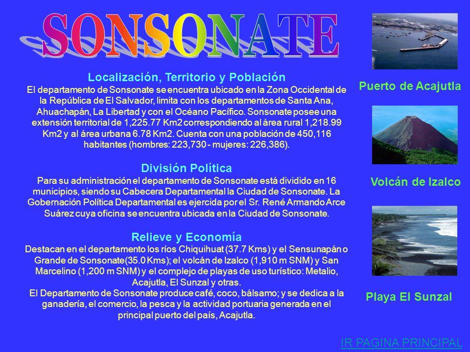 . Localización, Territorio y Población El departamento de Ahuachapán se encuentra ubicado en la zona Occidental de la República de El salvador, limita
