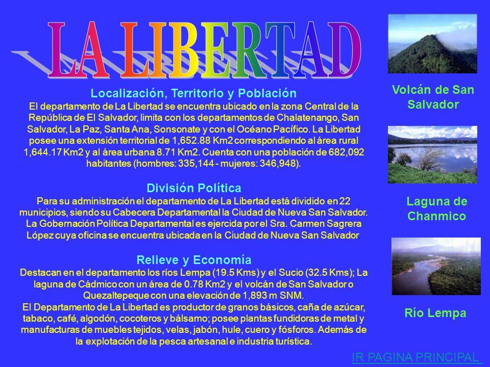 . Localización, Territorio y Población El departamento de Cuscatlán se encuentra ubicado en la Zona Central de la República de El Salvador, limita con