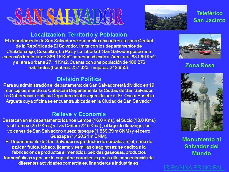 Localización, Territorio y Población El departamento de La Libertad se encuentra ubicado en la zona Central de la República de El Salvador, limita con