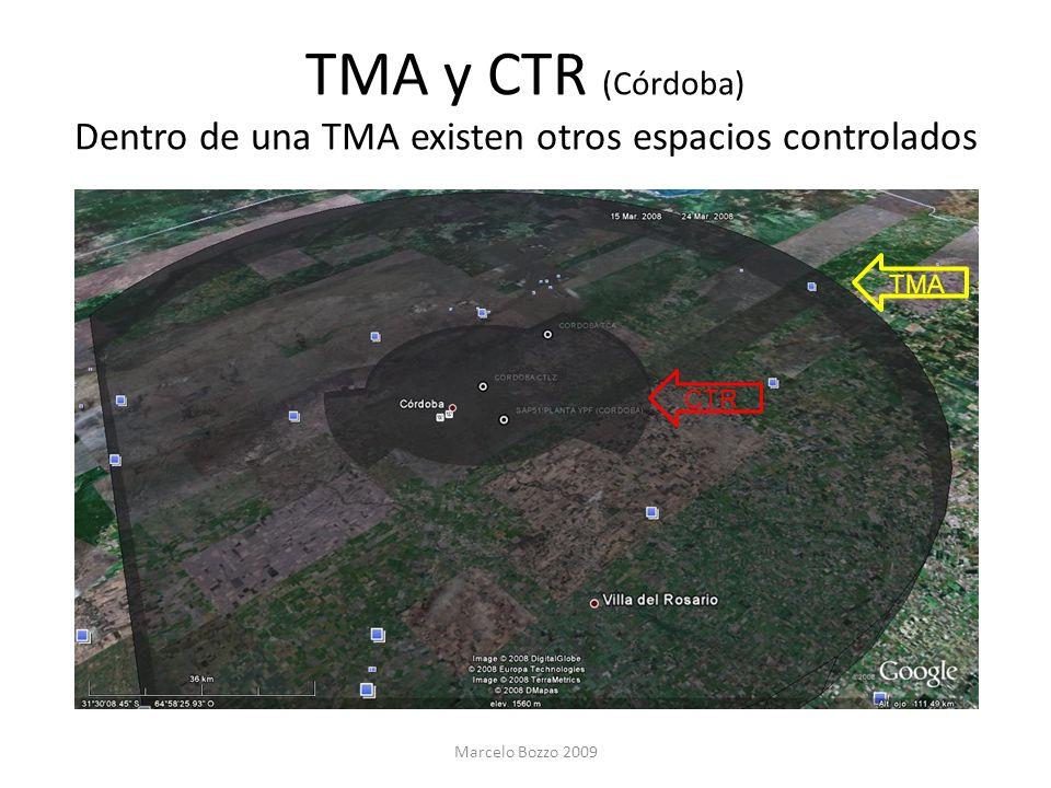 TMA y CTR (Córdoba) Dentro de una TMA existen otros espacios controlados Marcelo Bozzo 2009 CTR TMA