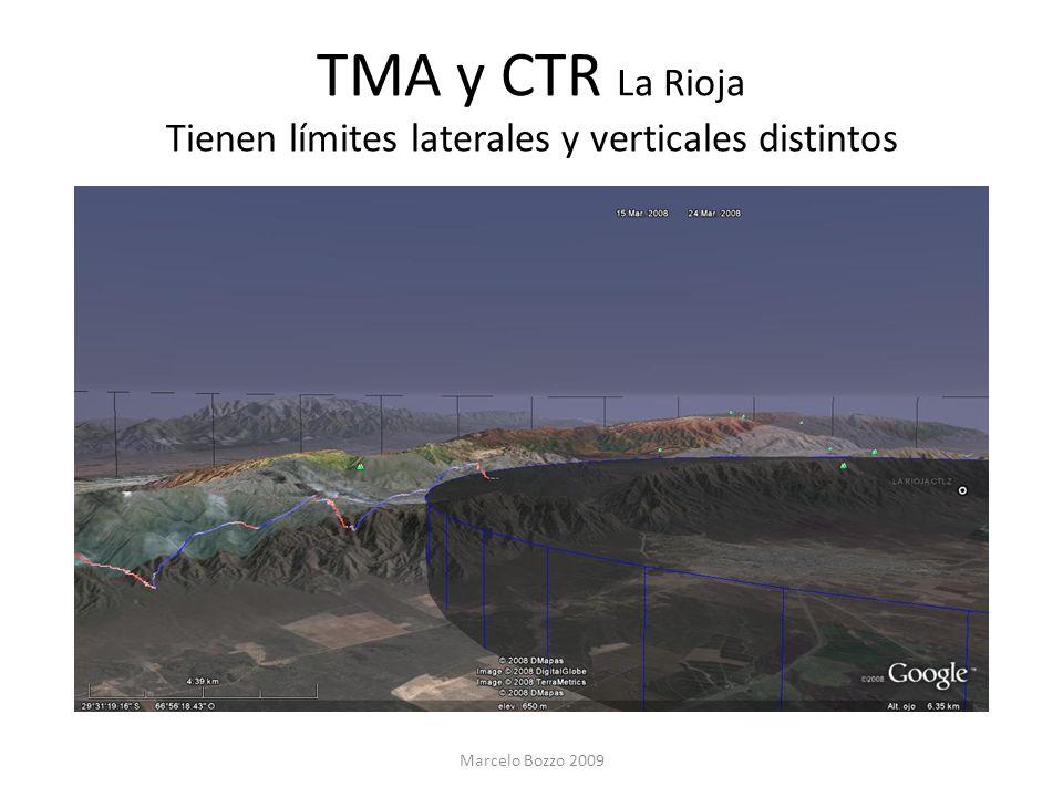 TMA y CTR La Rioja Tienen límites laterales y verticales distintos Marcelo Bozzo 2009