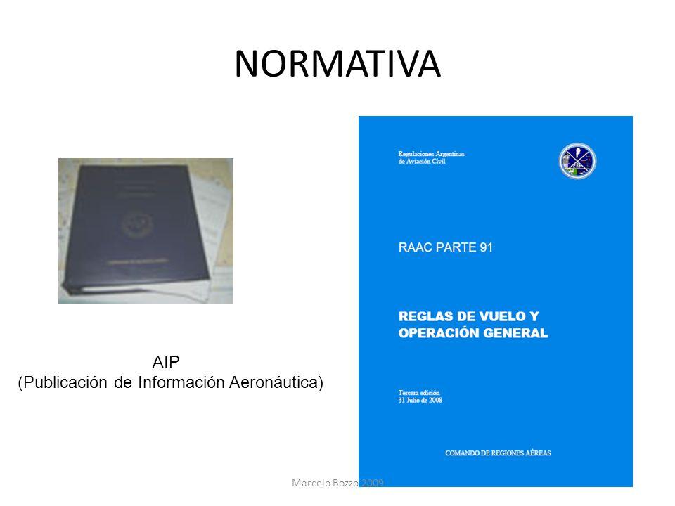 NORMATIVA AIP (Publicación de Información Aeronáutica) Marcelo Bozzo 2009