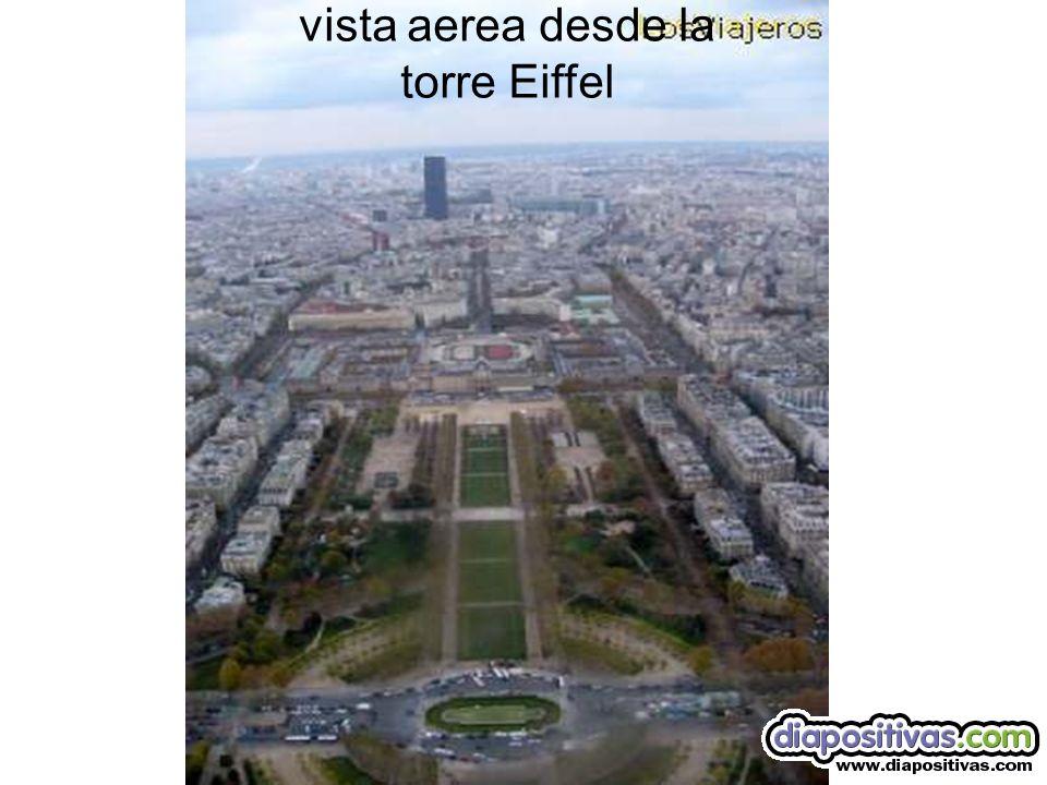 La plaza del trocadero desde lo alto de la torre Eiffel