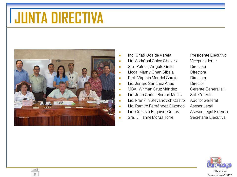 JUNTA DIRECTIVA Ing.Urías Ugalde VarelaPresidente Ejecutivo Lic.