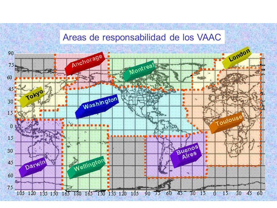 Areas de responsabilidad de los VAAC