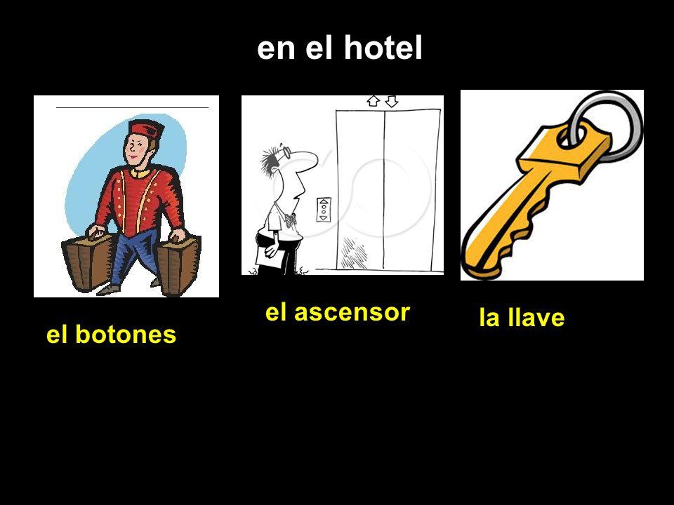en el hotel el botones el ascensor la llave