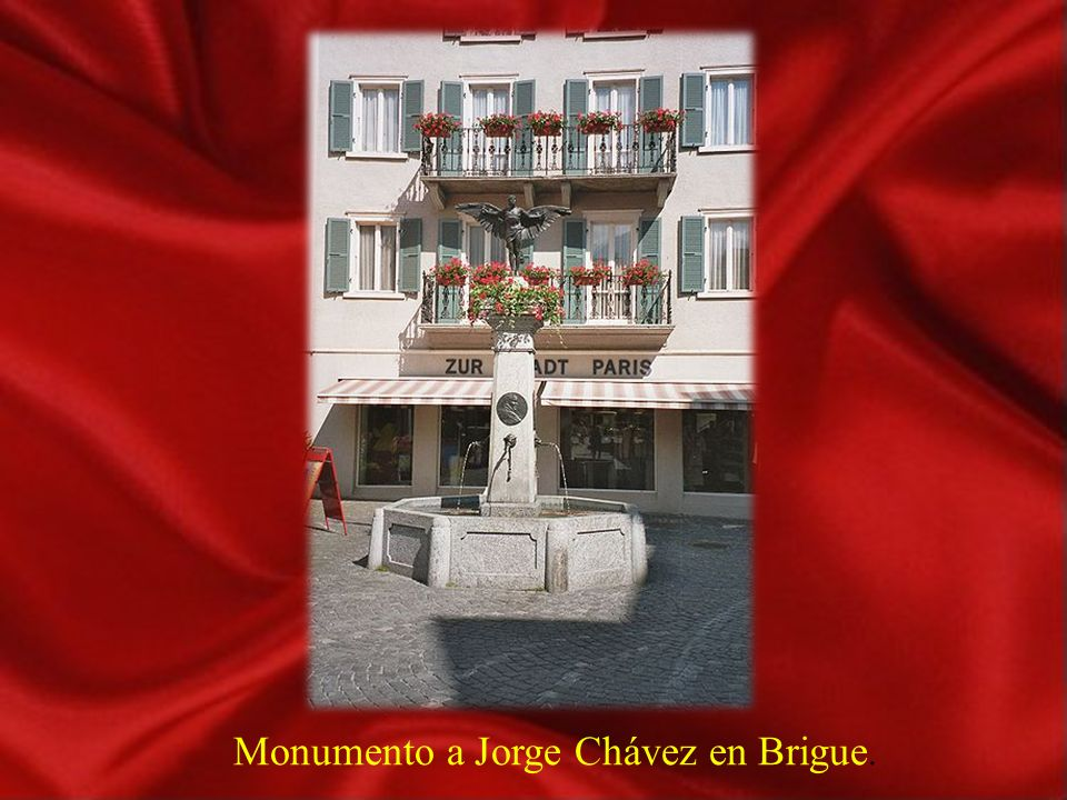 Domodossola. Monumento a Geo Chavez