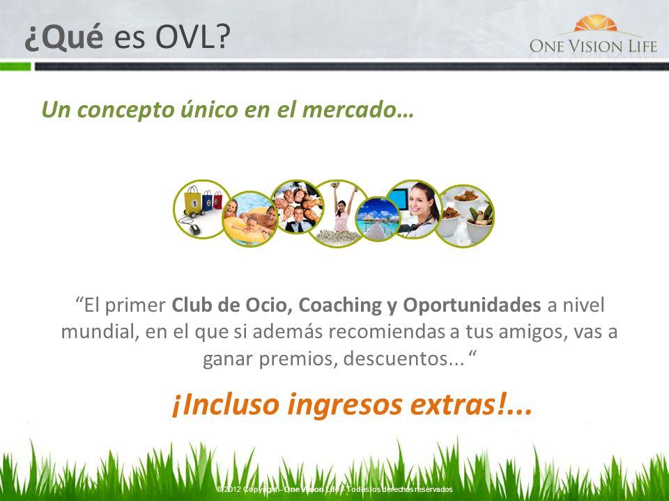 Un concepto único en el mercado… El primer Club de Ocio, Coaching y Oportunidades a nivel mundial, en el que si además recomiendas a tus amigos, vas a