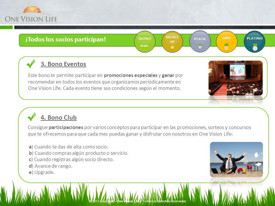 4. Bono Club Consigue participaciones por varios conceptos para participar en las promociones, sorteos y concursos que te ofrecemos para que cada mes
