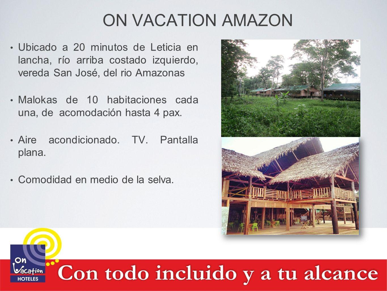 ON VACATION AMAZON Ubicado a 20 minutos de Leticia en lancha, río arriba costado izquierdo, vereda San José, del rio Amazonas Malokas de 10 habitacion