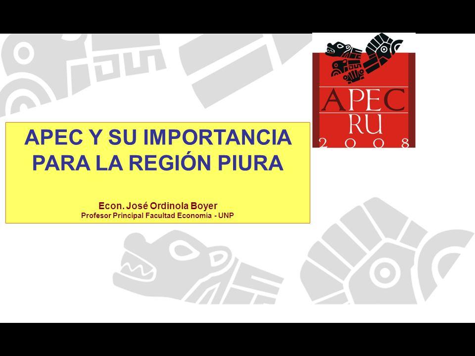 Comercio PERU –APEC Millones de US$ (FOB) Exportaciones Año 2006 Exportaciones Año 2000