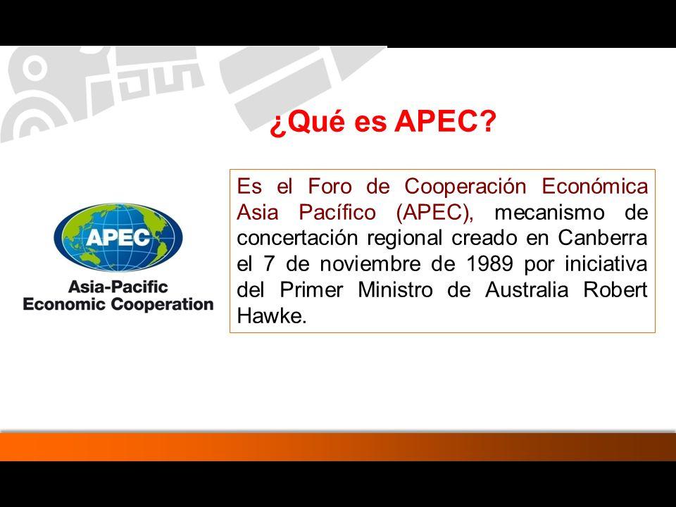 De 2002 al 2006 la llegada de turistas al Perú provenientes de las Economías miembro de APEC aumentaron en 69%, con un crecimiento anual del 12% entre el año 2005 y 2006.