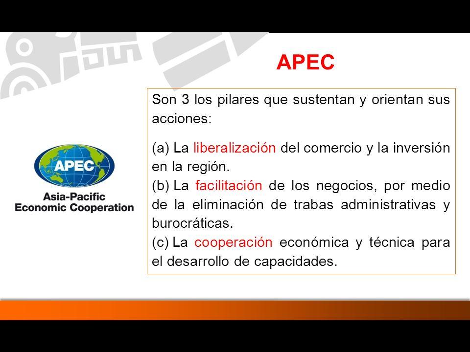 De los 20 principales socios comerciales del Perú en el 2006, (7) pertenecen a APEC.